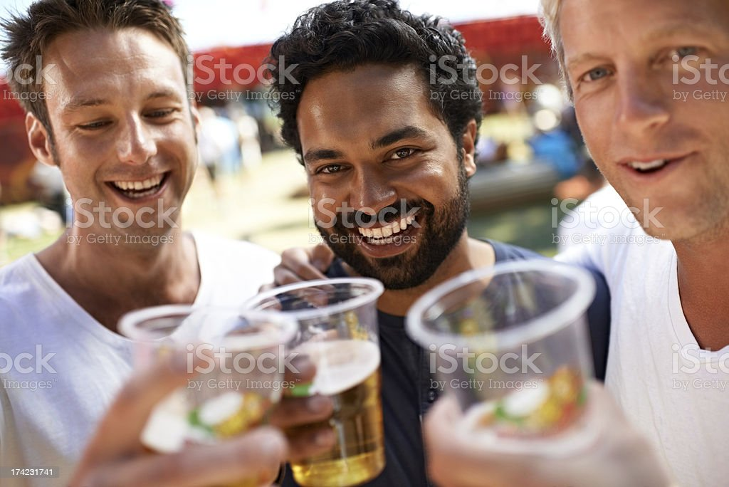 Beer with the boys royalty-free stock photo