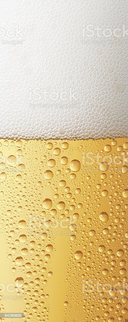 Beer with transpiration detail of glass royalty-free stock photo