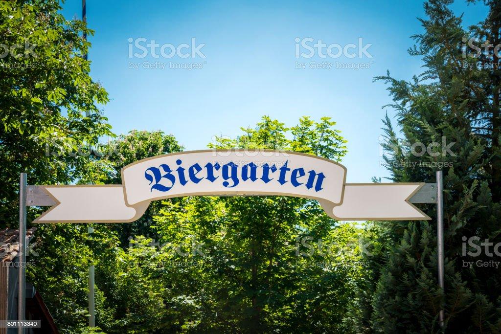 beergarden in bavaria stock photo