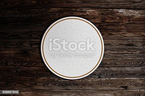 istock Beermat drink coaster 638887640