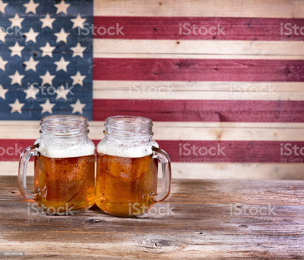 Beers for the holiday season stock photo