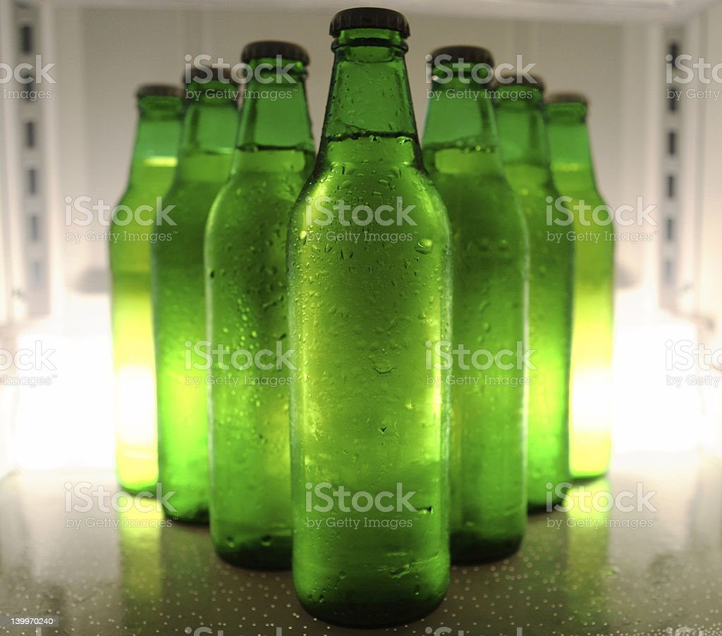 beers in formation stock photo
