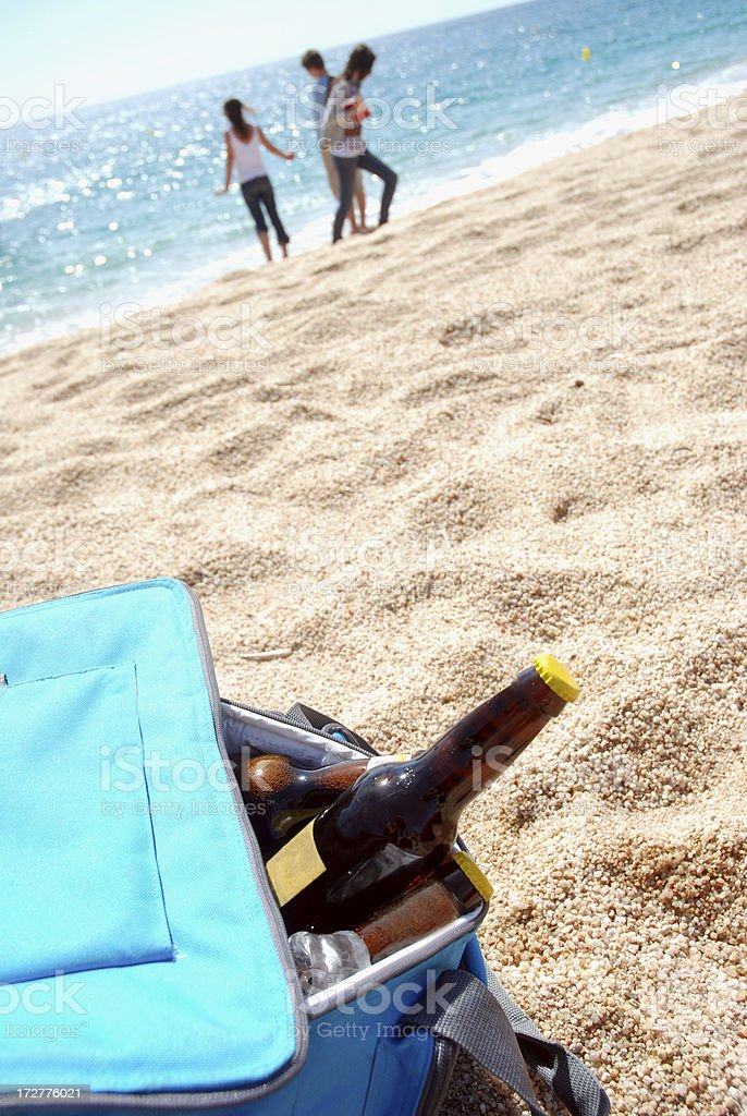 Beers on the beach royalty-free stock photo