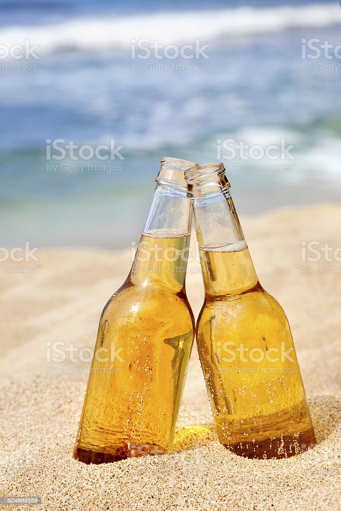 Beers on the Beach stock photo