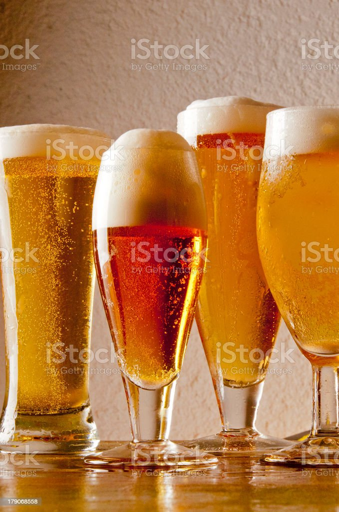 Beers stock photo