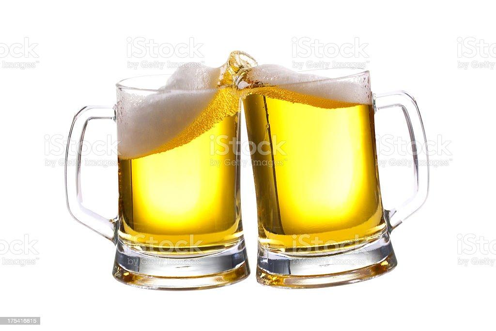 Beers Toasting stock photo