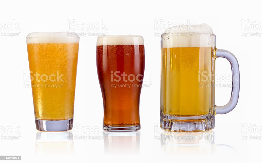 Beers with clipping PATH royalty-free stock photo