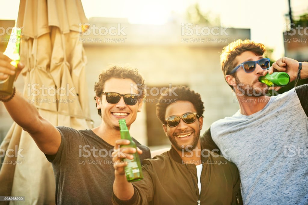 Beers with the bros stock photo