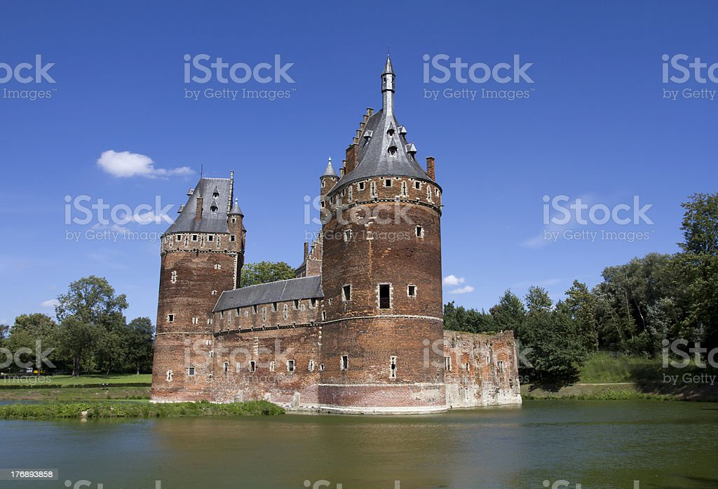 Beersel Castle in Brussels stock photo