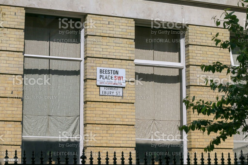 Beeston Place in City of Westminster, London stock photo