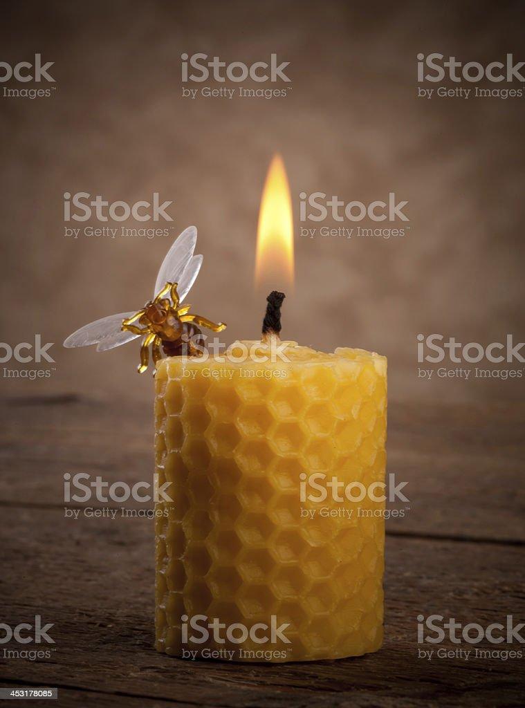 Beeswax candles stok fotoğrafı