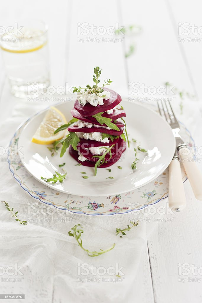 Beet and Goat Cheese Salad royalty-free stock photo