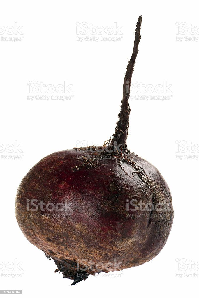 Beet on white royalty-free stock photo