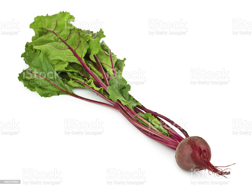 Beet root isolated on white royalty-free stock photo