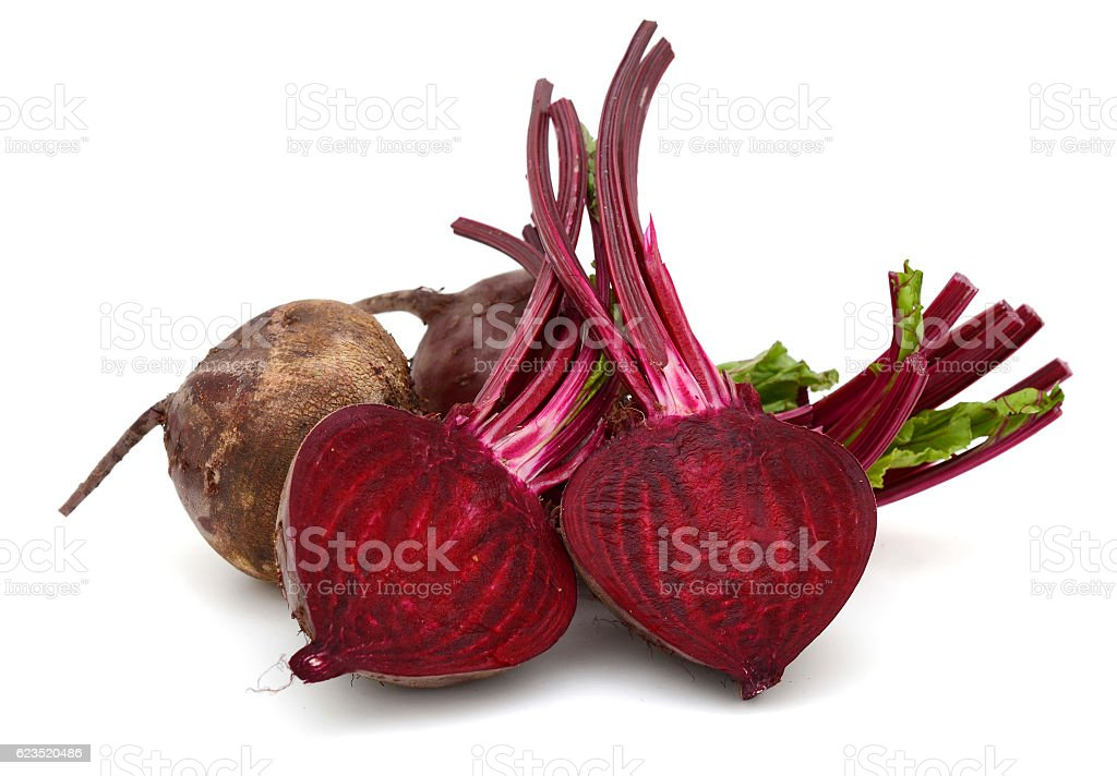 Beet roots in cutting stock photo