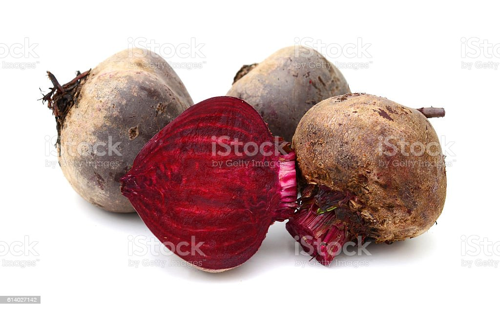 Beet roots isolated on white background stock photo