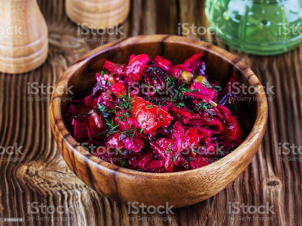 beet salad stock photo