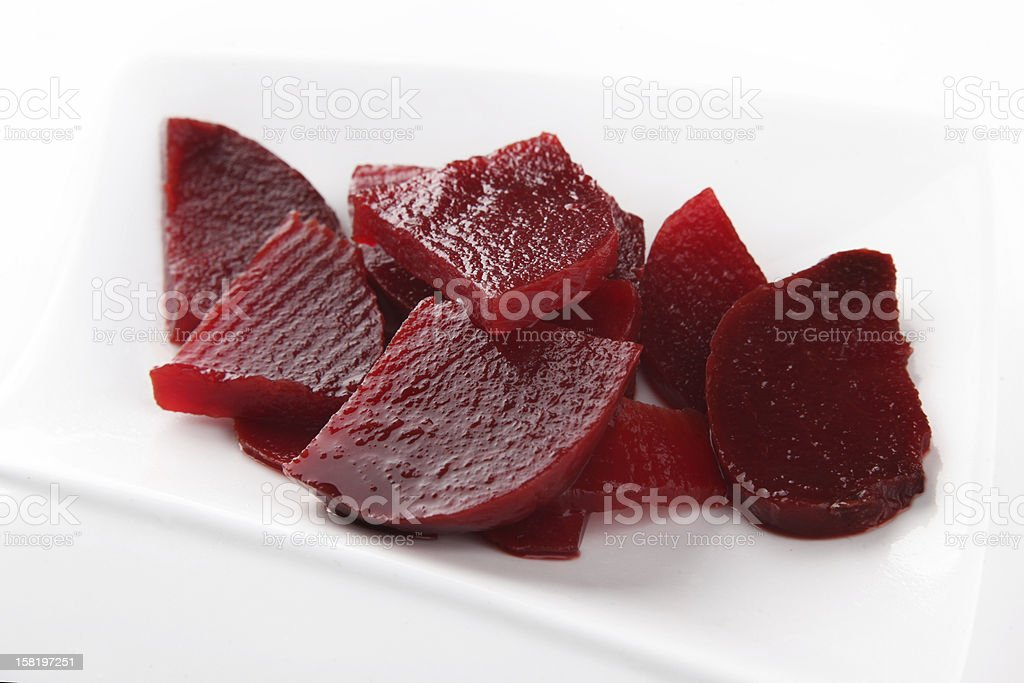 Beet slice preserved royalty-free stock photo