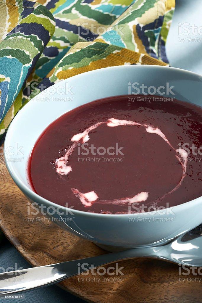 Beet Soup or Borscht stock photo