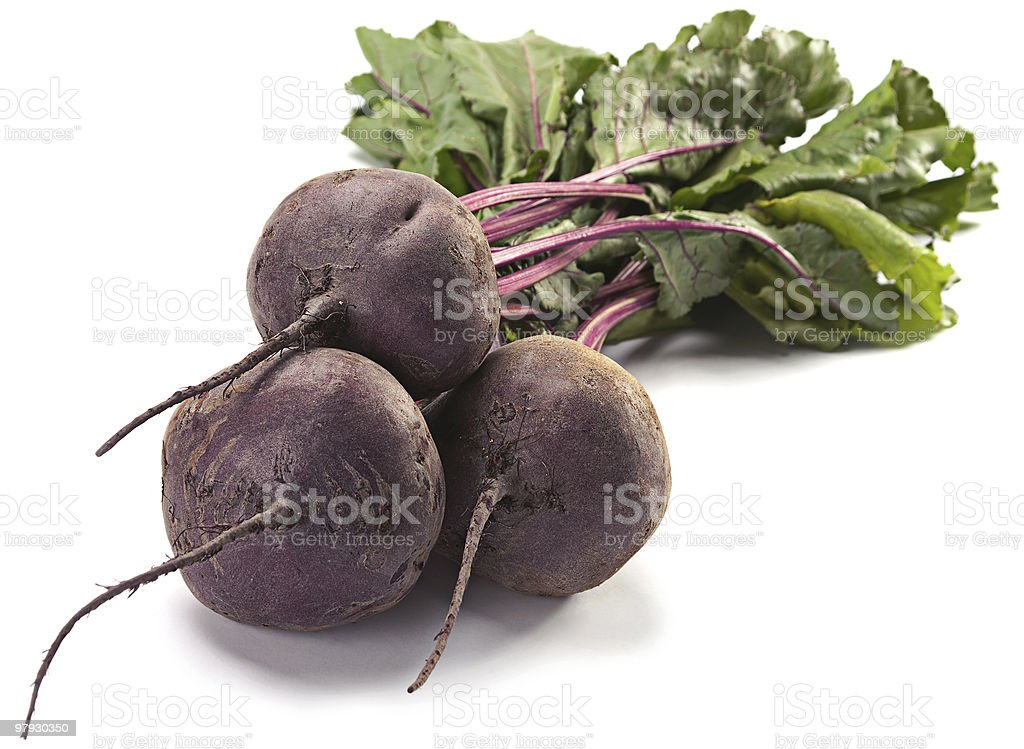Beet with leaf royalty-free stock photo