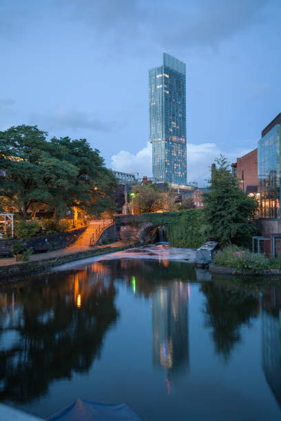Beetham Tower and Castlefield. stock photo