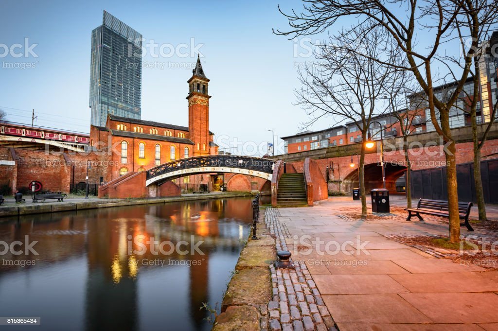 Beetham Tower Manchester stock photo