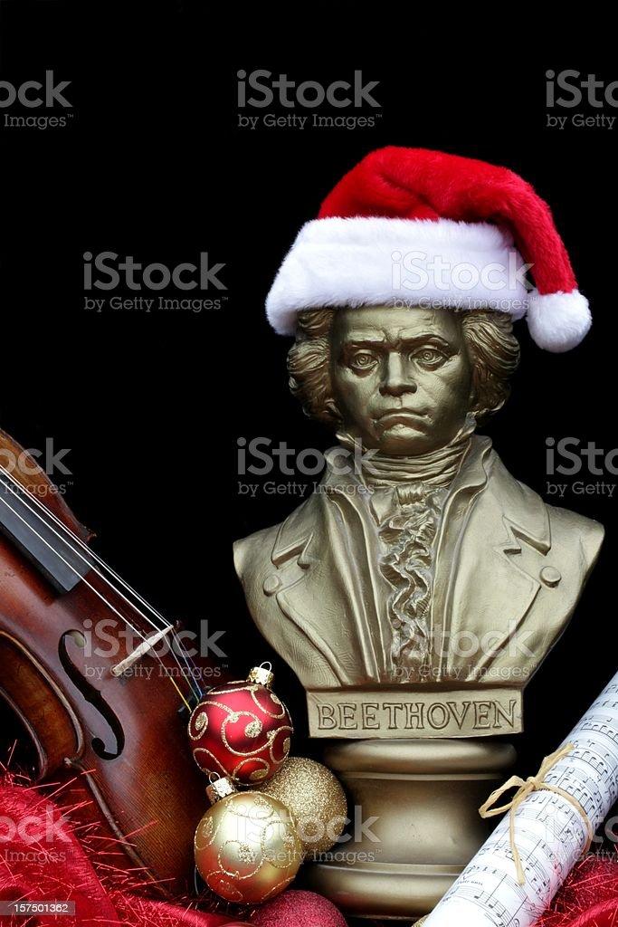 Beethoven Christmas Still Life royalty-free stock photo