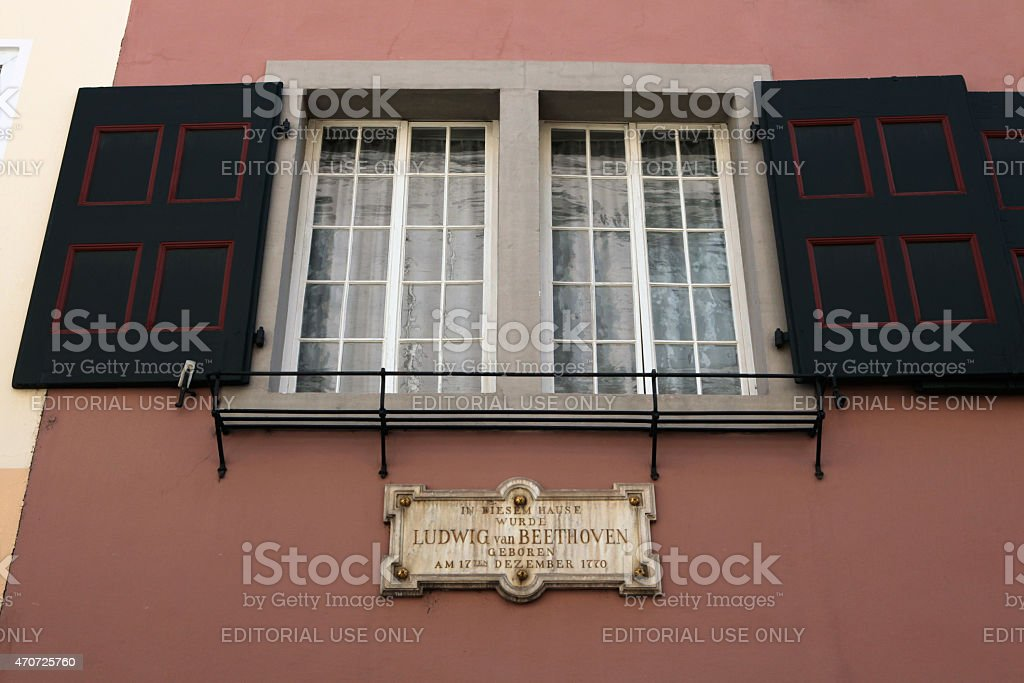 Beethoven House in Bonn, Germany. stock photo