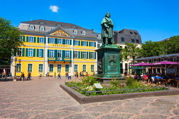 Beethoven monument in Bonn, Germany stock photo