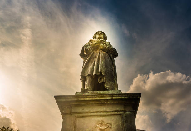 Beethoven Monument in Bonn, Germany.It was unveiled on 12 August 1845 stock photo