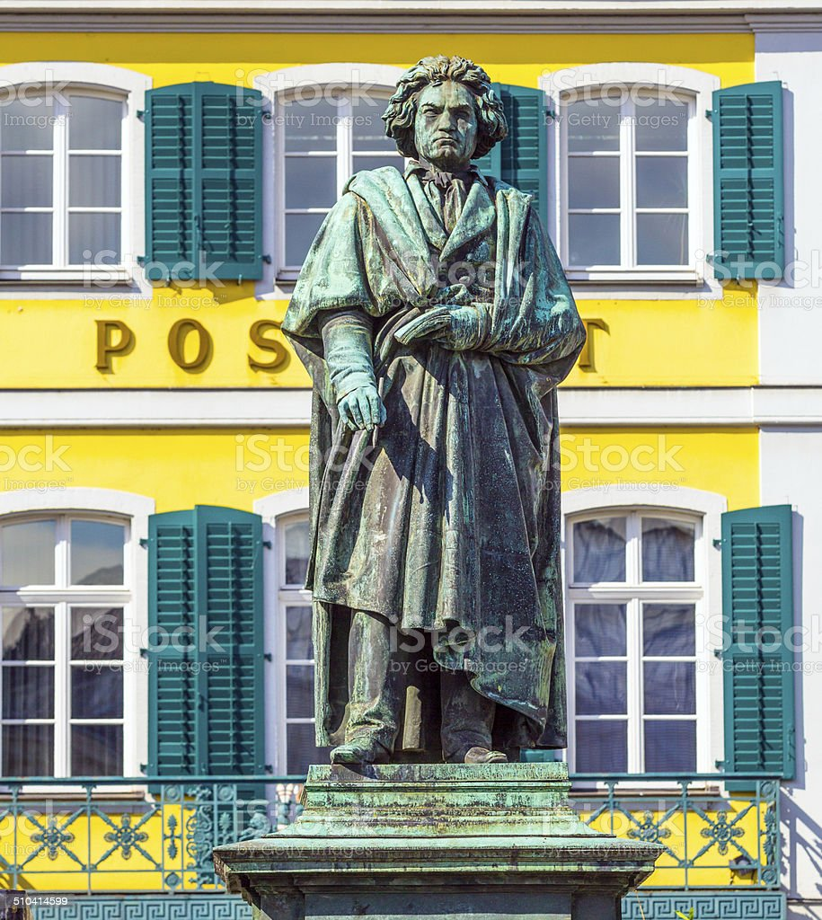 Beethoven Monument on the Munsterplatz in Bonn stock photo