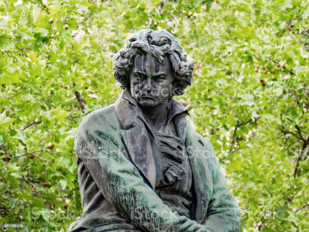 Beethoven monument Vienna stock photo
