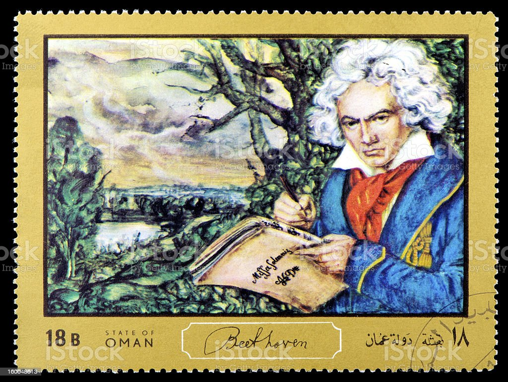 Beethoven Postage Stamp stock photo