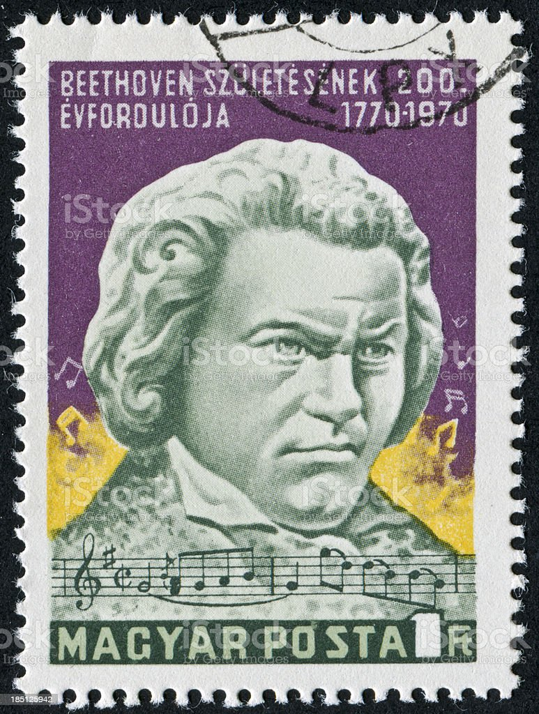 Beethoven Stamp stock photo