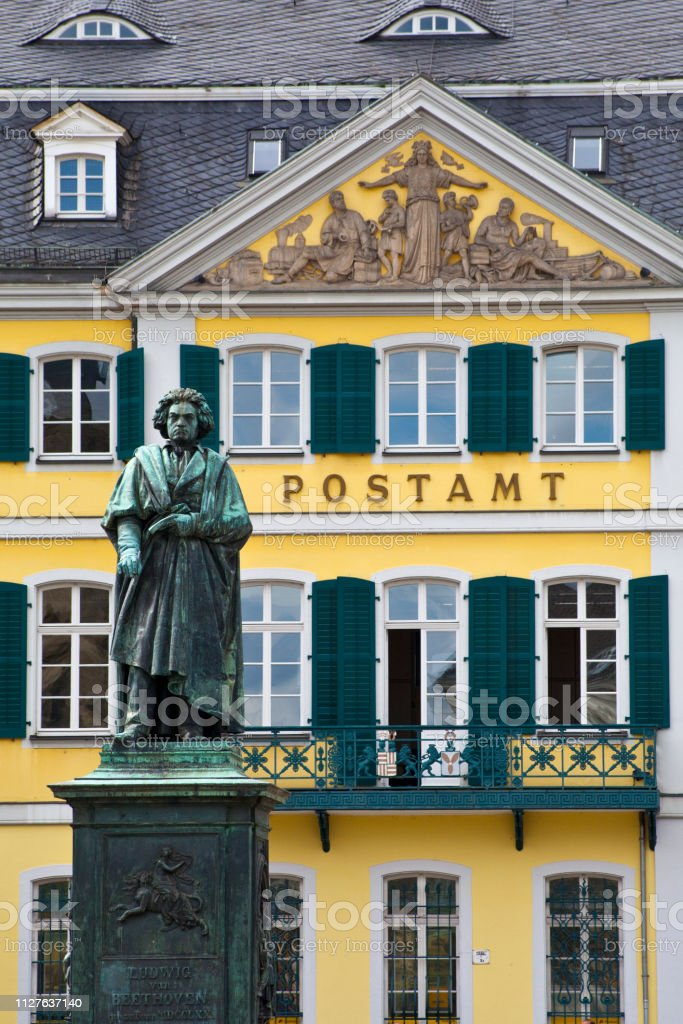 Beethoven Statue in Bonn, Germany stock photo