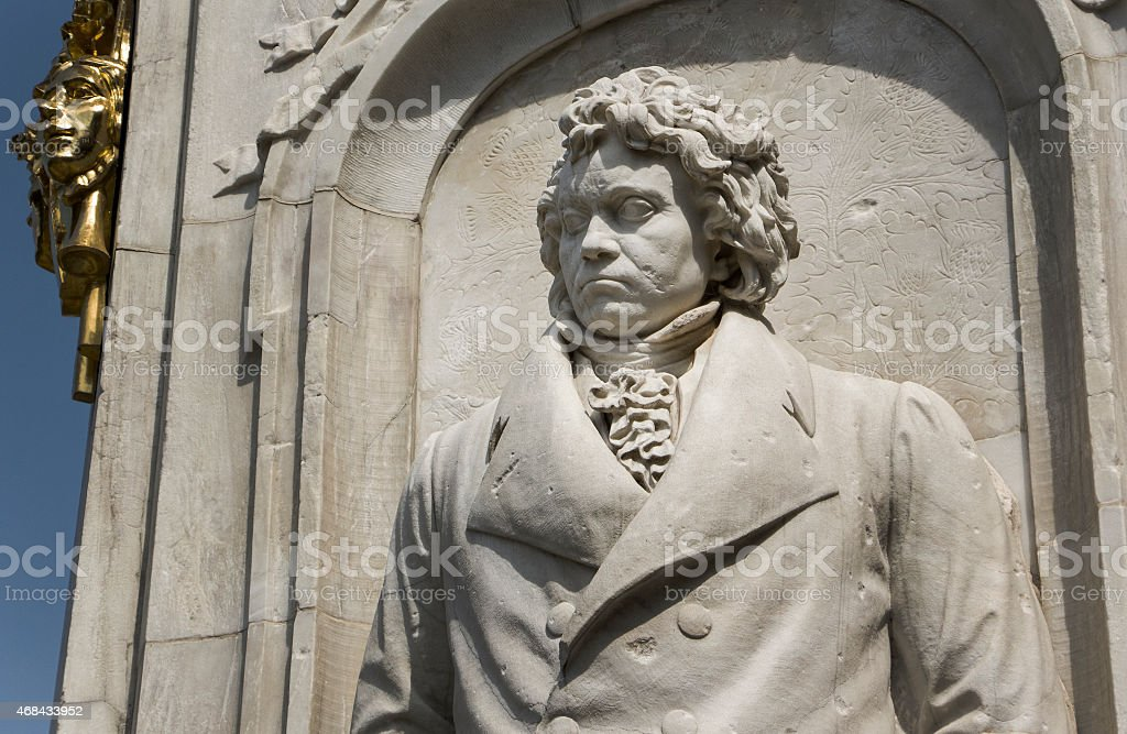 Beethoven statue stock photo