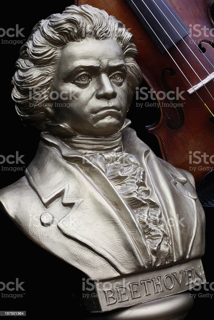 Beethoven with Violin stock photo