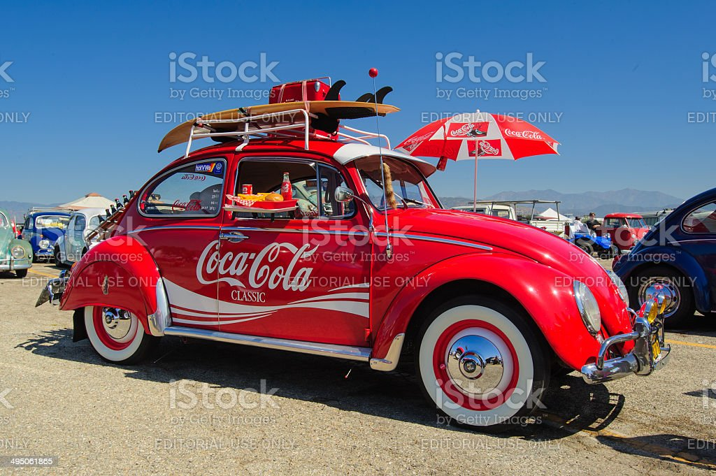 Vw Beetle Cocacola Classic Car Stock Photo & More Pictures of 1960-1969 | iStock