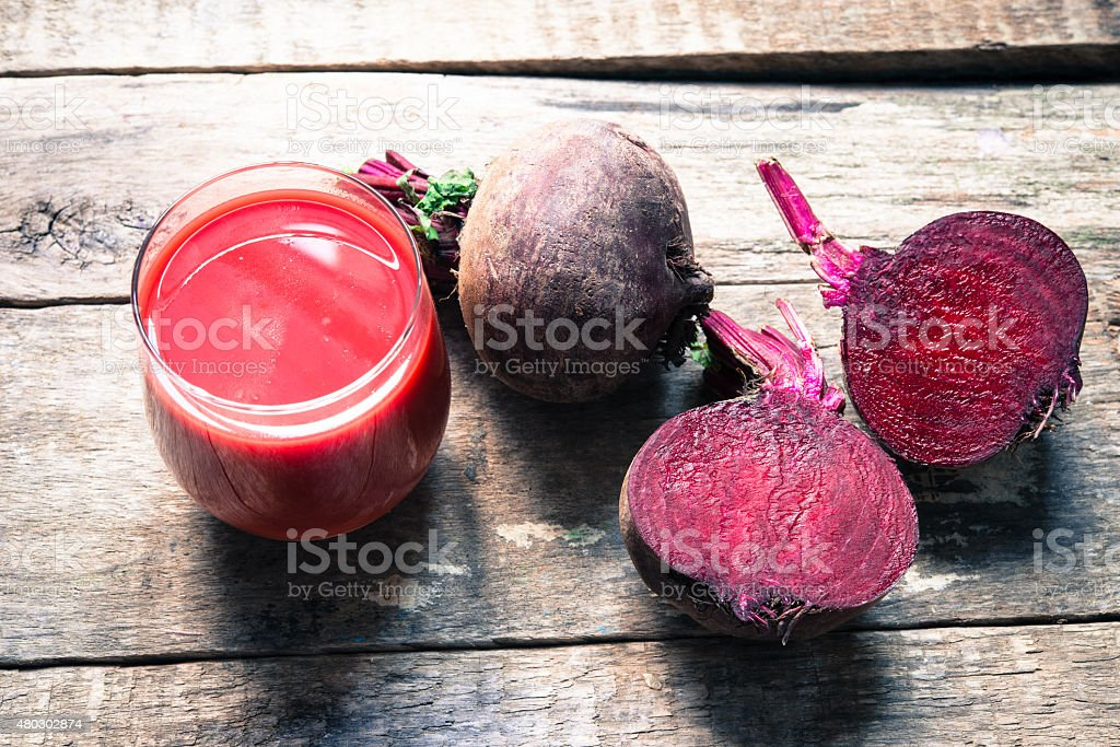 Beetroot juice stock photo