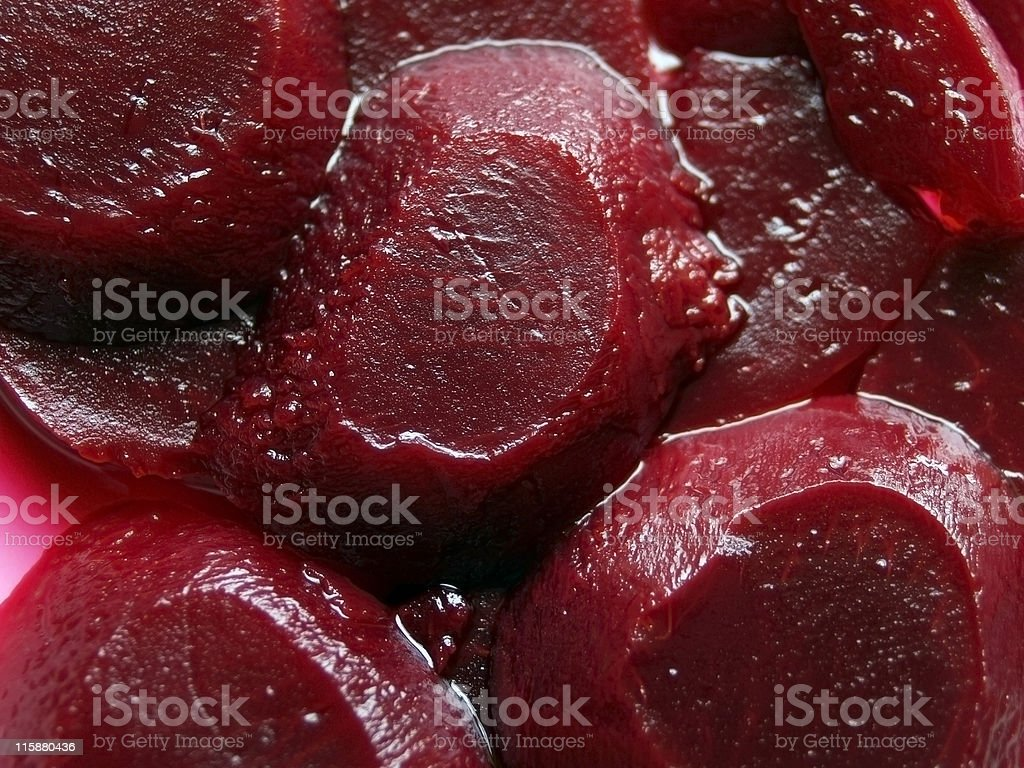 Beetroot Pickled Sliced royalty-free stock photo