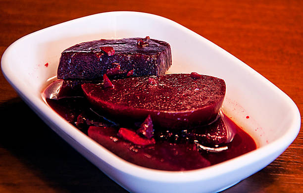 Beetroot Pickled Sliced stock photo