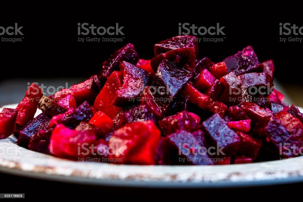 beetroot salad stock photo