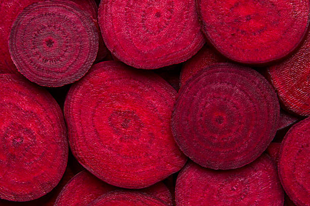 Beetroot slice closeup. Beetroot background. stock photo