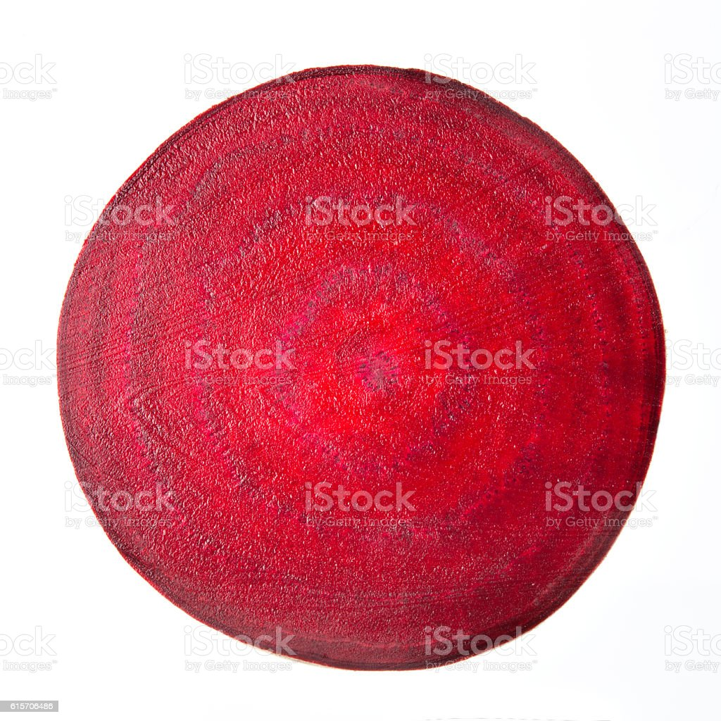 Beetroot slice isolated on white background stock photo