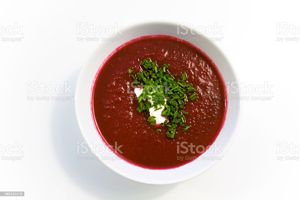 Beetroot Soup stock photo