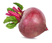 Beetroot with leaves isolated on whiteBeetroot with leaves isolated on whiteBeetroot with leaves isolated on white