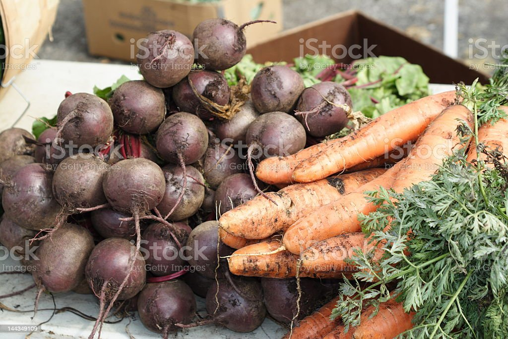 Beets and Carrots stock photo