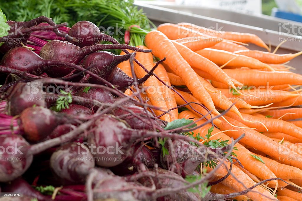 Beets and Carrots royalty-free stock photo