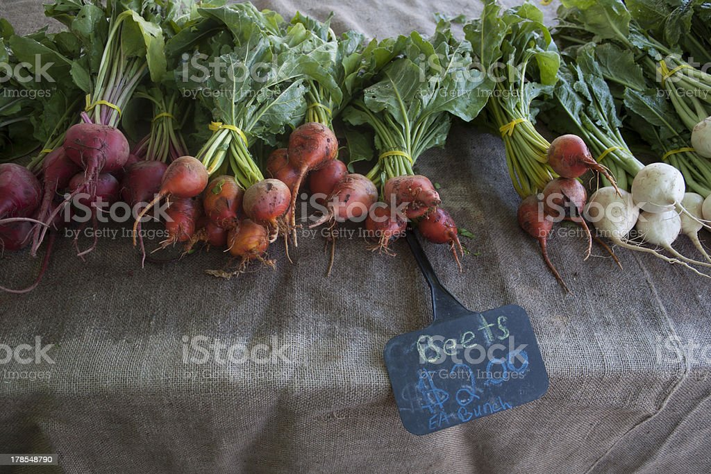 Beets and Turnips stock photo