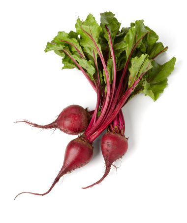 3 beets isolated on white background, larger files come with path.